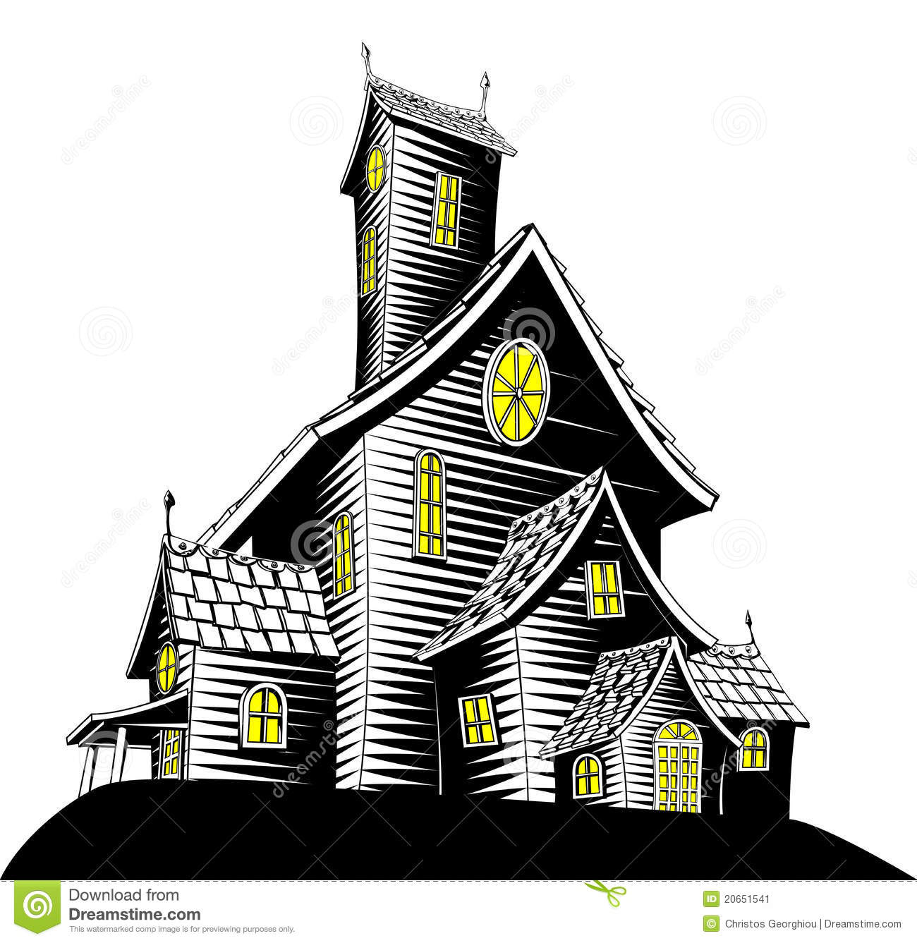 scary haunted house illustration stock vector illustration of