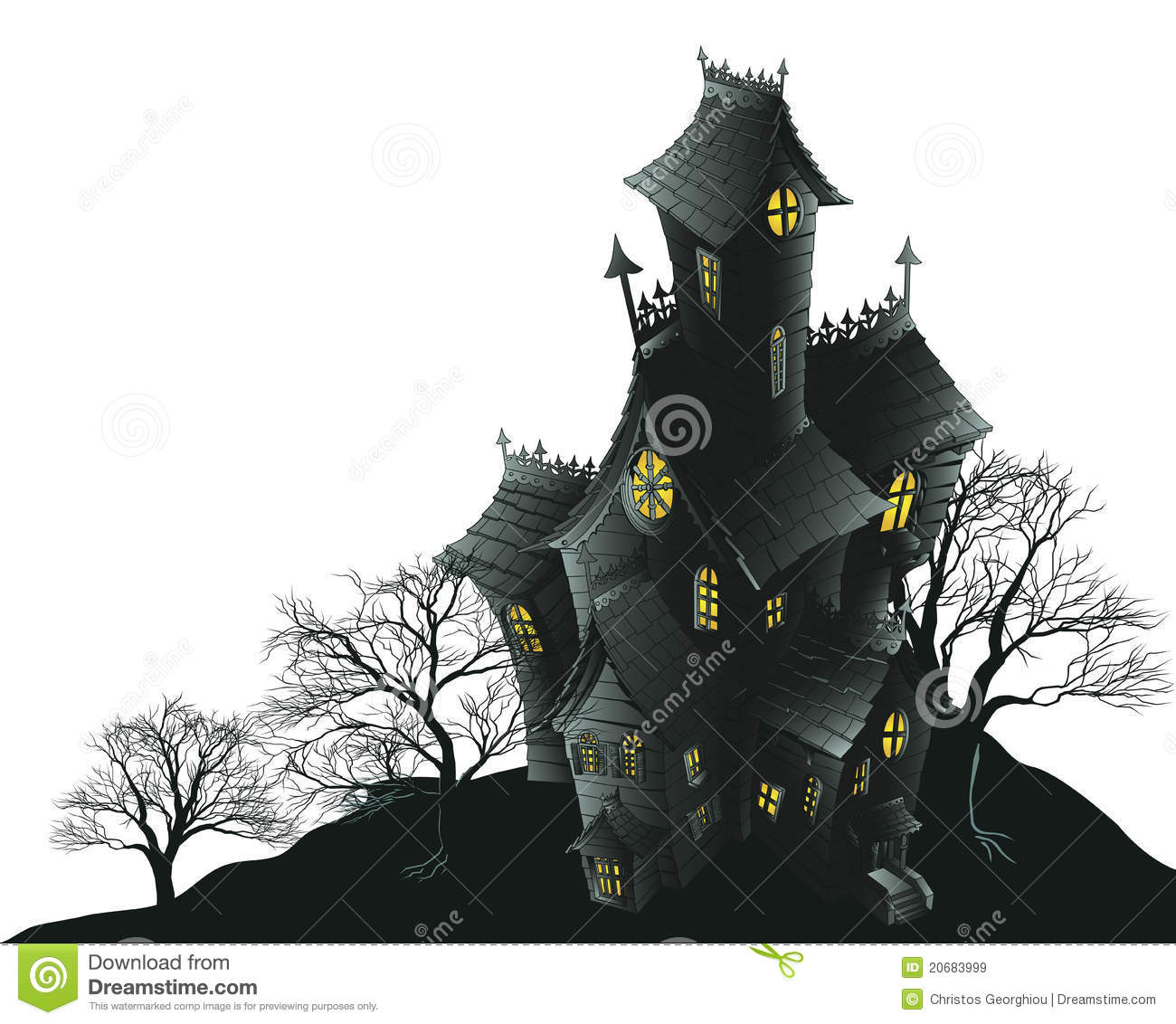 scary haunted house and trees illustration royalty free halloween clipart haunted house clipart haunted house