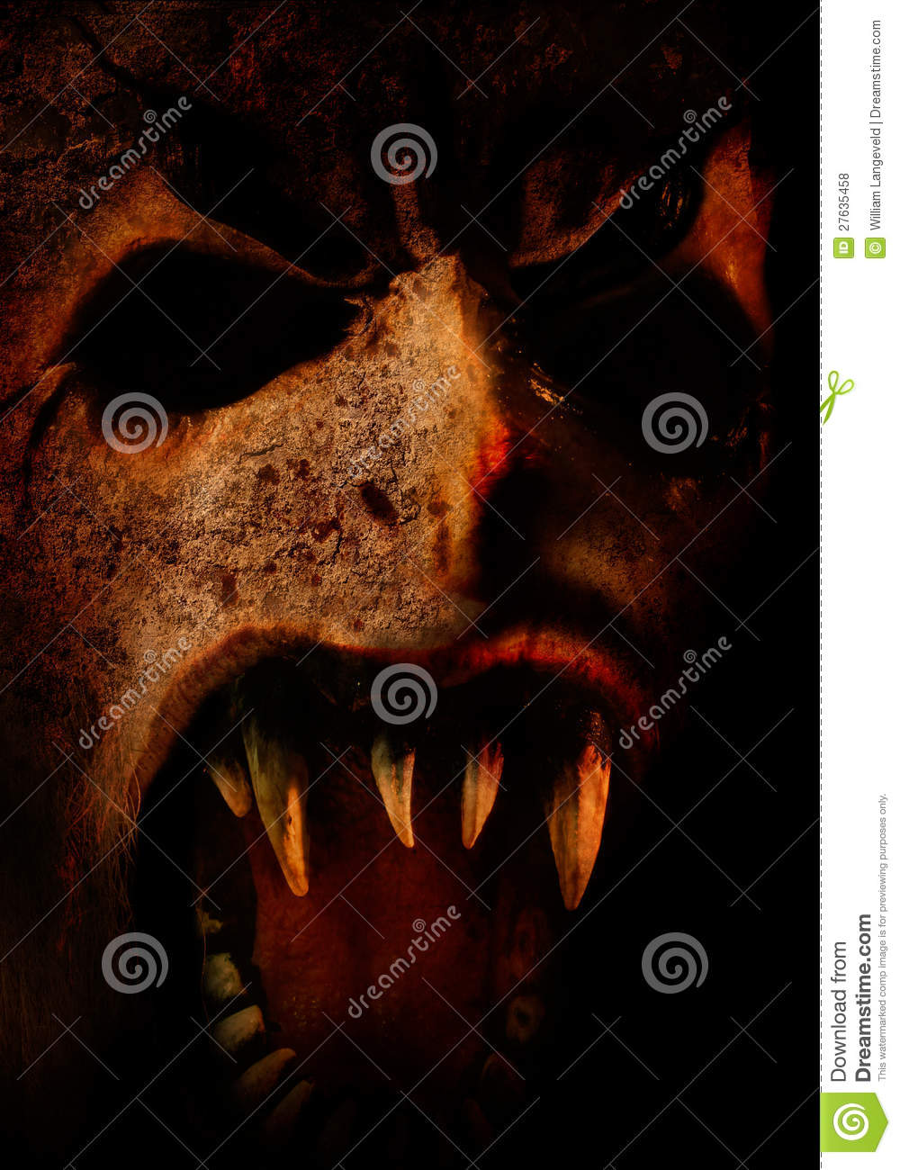 Scary horror face for you halloween or dark party