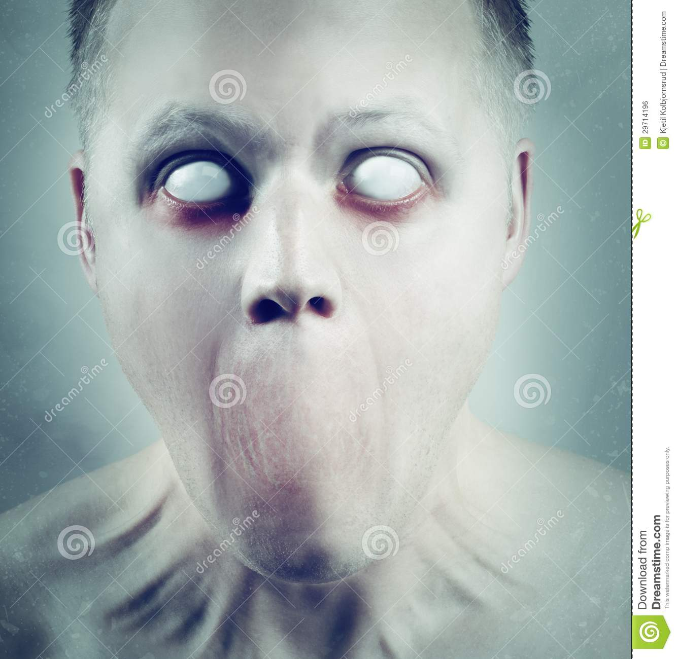 White Eyed Psychedelic Face Stock Photo Image Of Strange