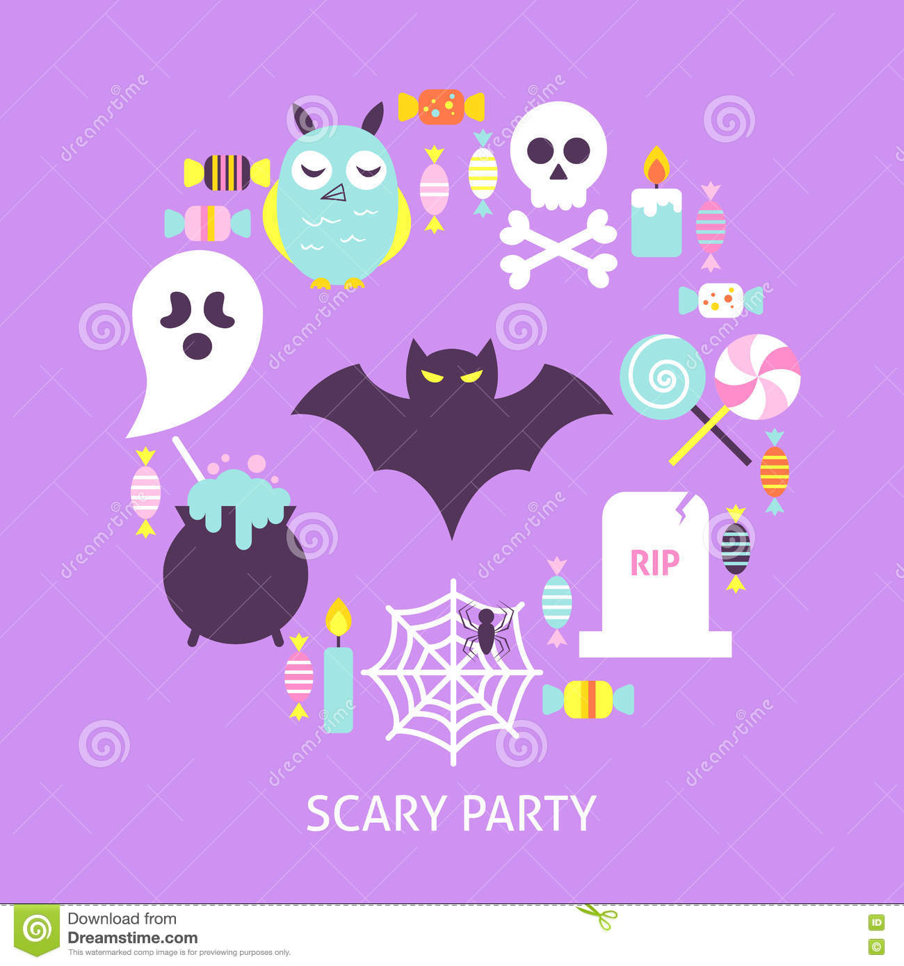 Trendy Poster Designs: Scary Party Trendy Poster Stock Vector. Illustration Of