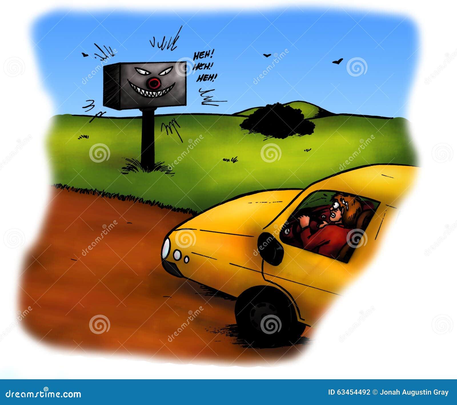 Scary Radar Speed Check (2008) Stock Illustration