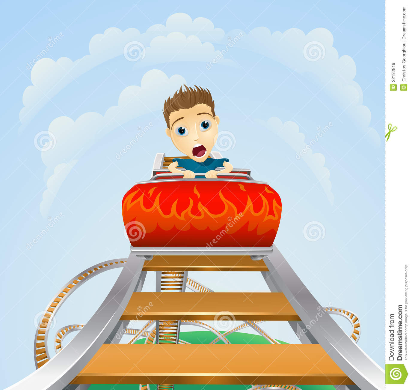 Scary Ride On Rollercoaster Royalty Free Stock Images