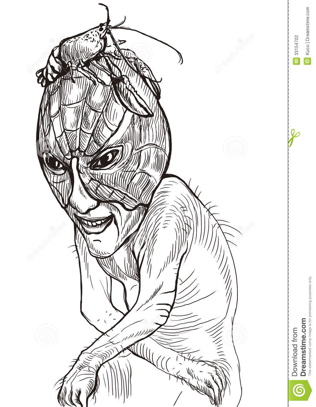 Scary Sad Monster Stock Photography Image 33154702