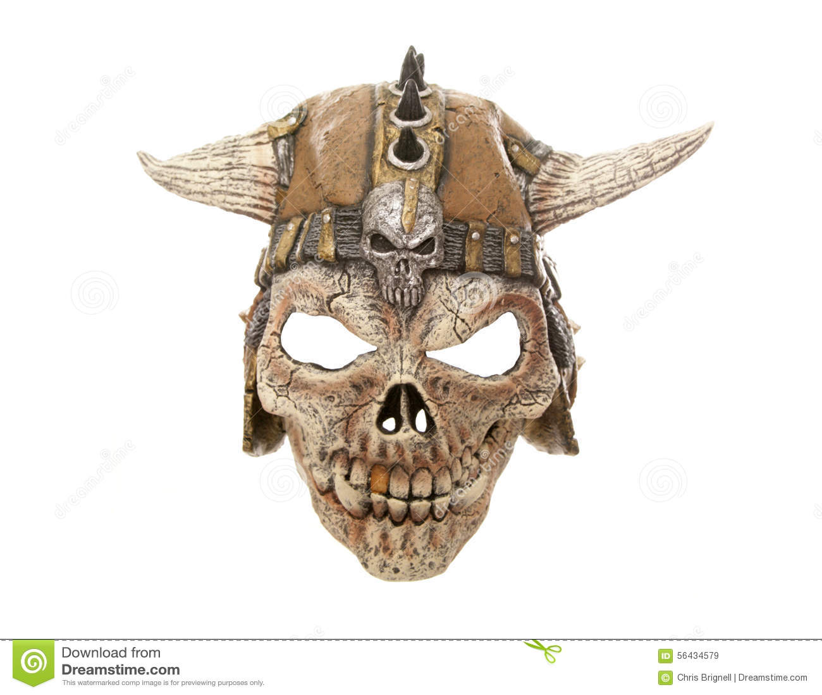 Scary Skull Halloween Mask Stock Photo - Image: 56434579