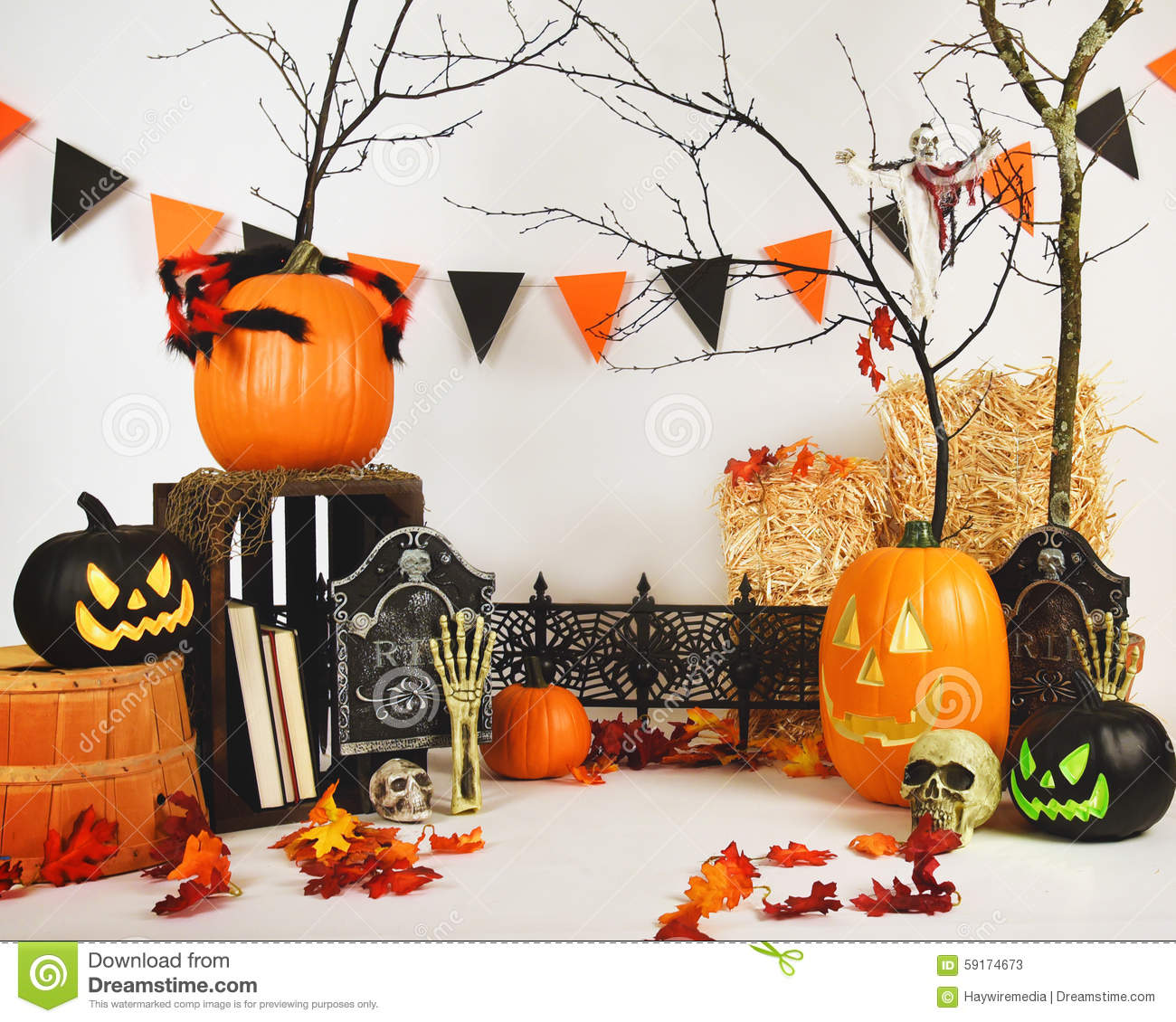Scary studio halloween background scene on white stock image image 59174673 - Image de halloween ...