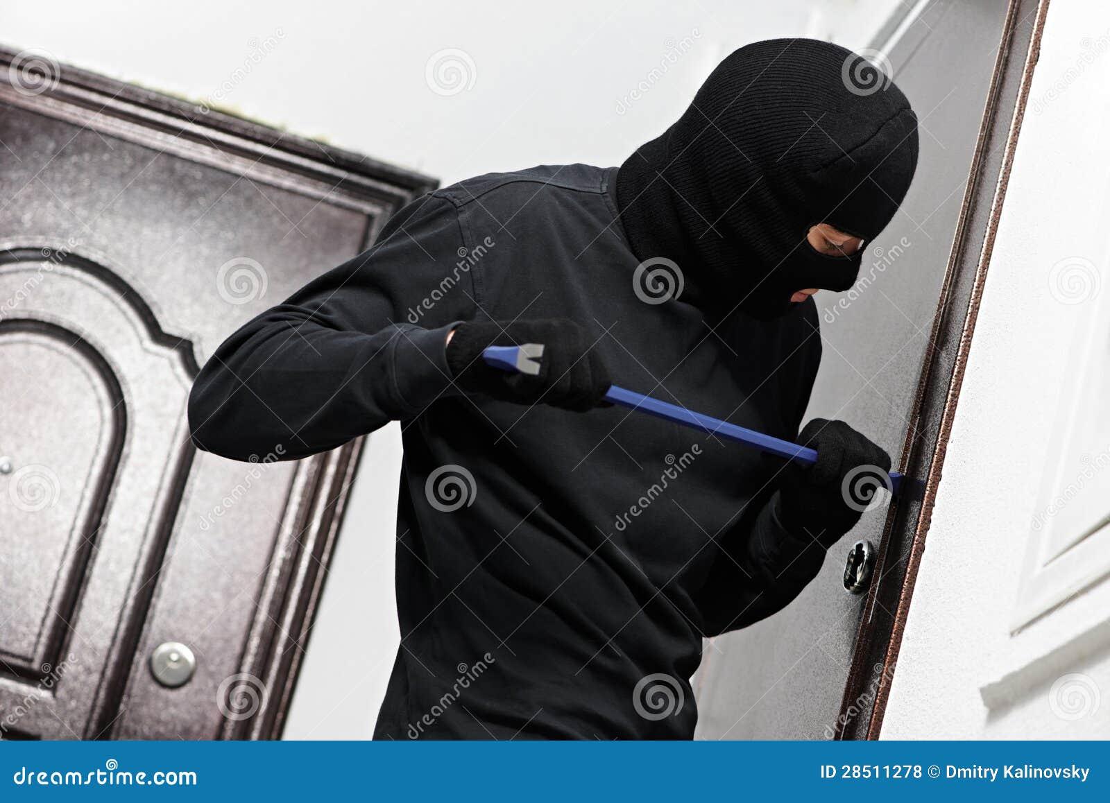 Scassinatore del ladro alla rottura di casa