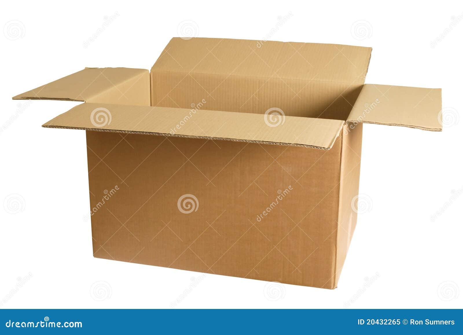 Scatola di cartone vuota