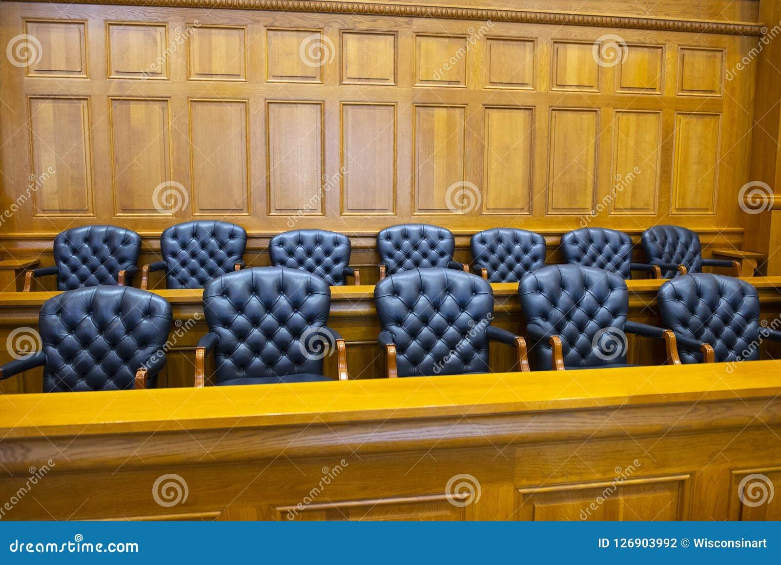 Scatola di giuria, legge, legale, avvocato, giudice, aula del tribunale