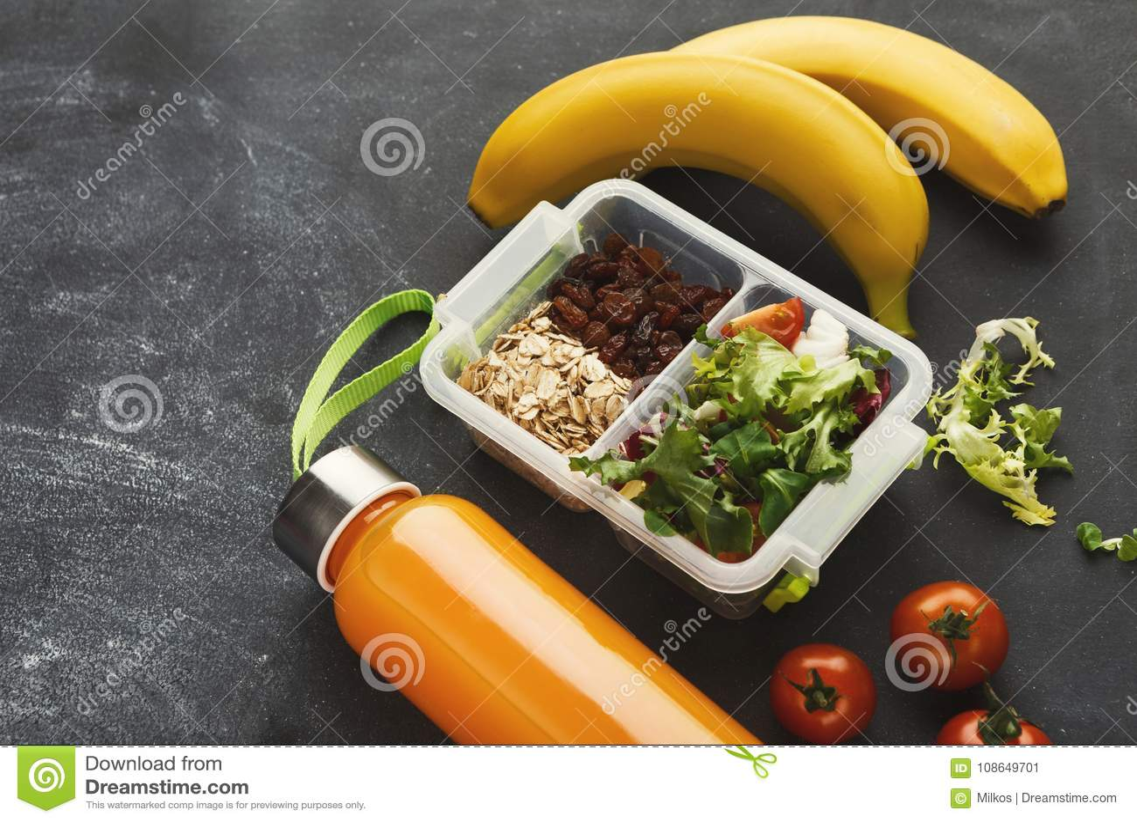 Spuntini Sani Per La Scuola : Scatola di pranzo per il bambino spuntino sano per la cena della