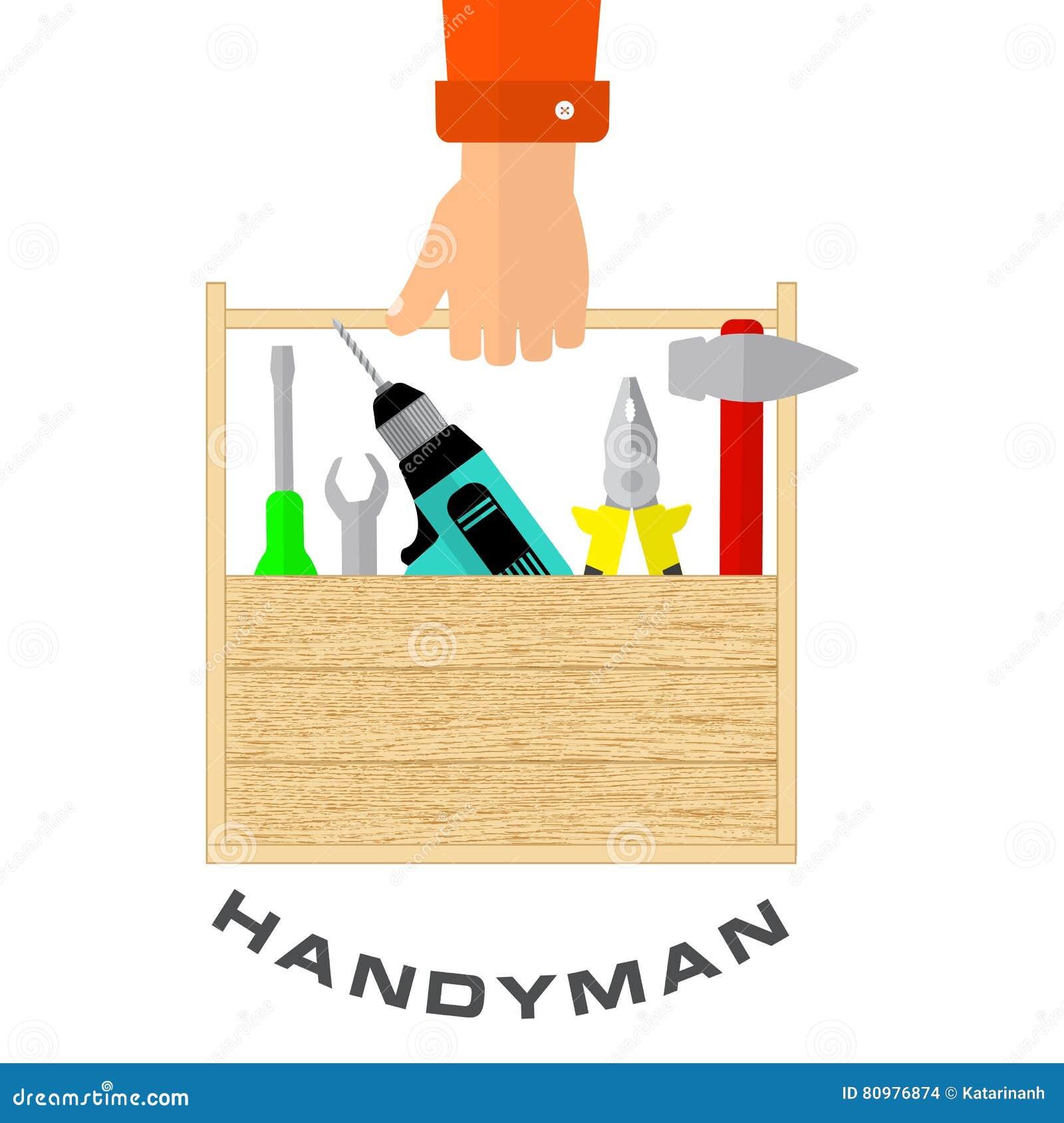 Scatola di strumenti a disposizione del tuttofare La Camera ritocca gli strumenti Servizio di riparazione domestico di logo
