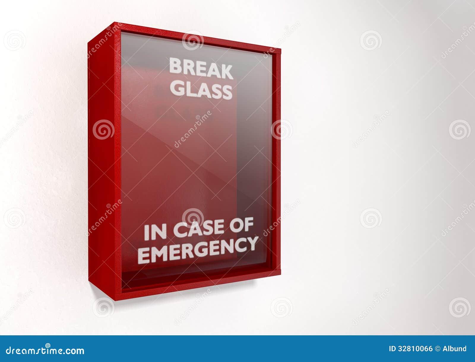 Scatola rossa della rottura in caso d emergenza