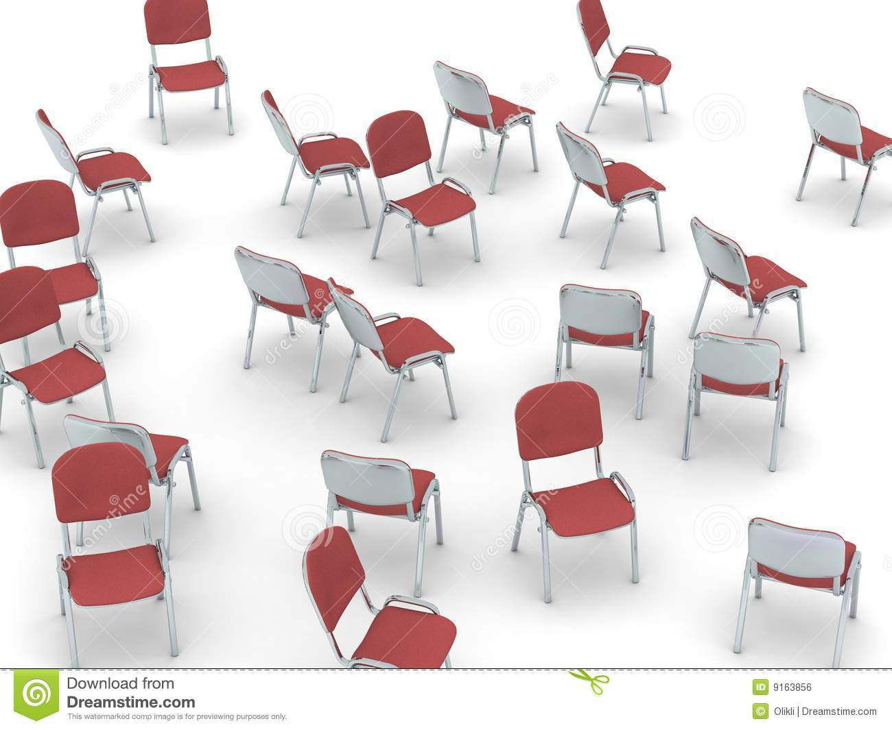 Scattered Chairs Royalty Free Stock Image Image 9163856