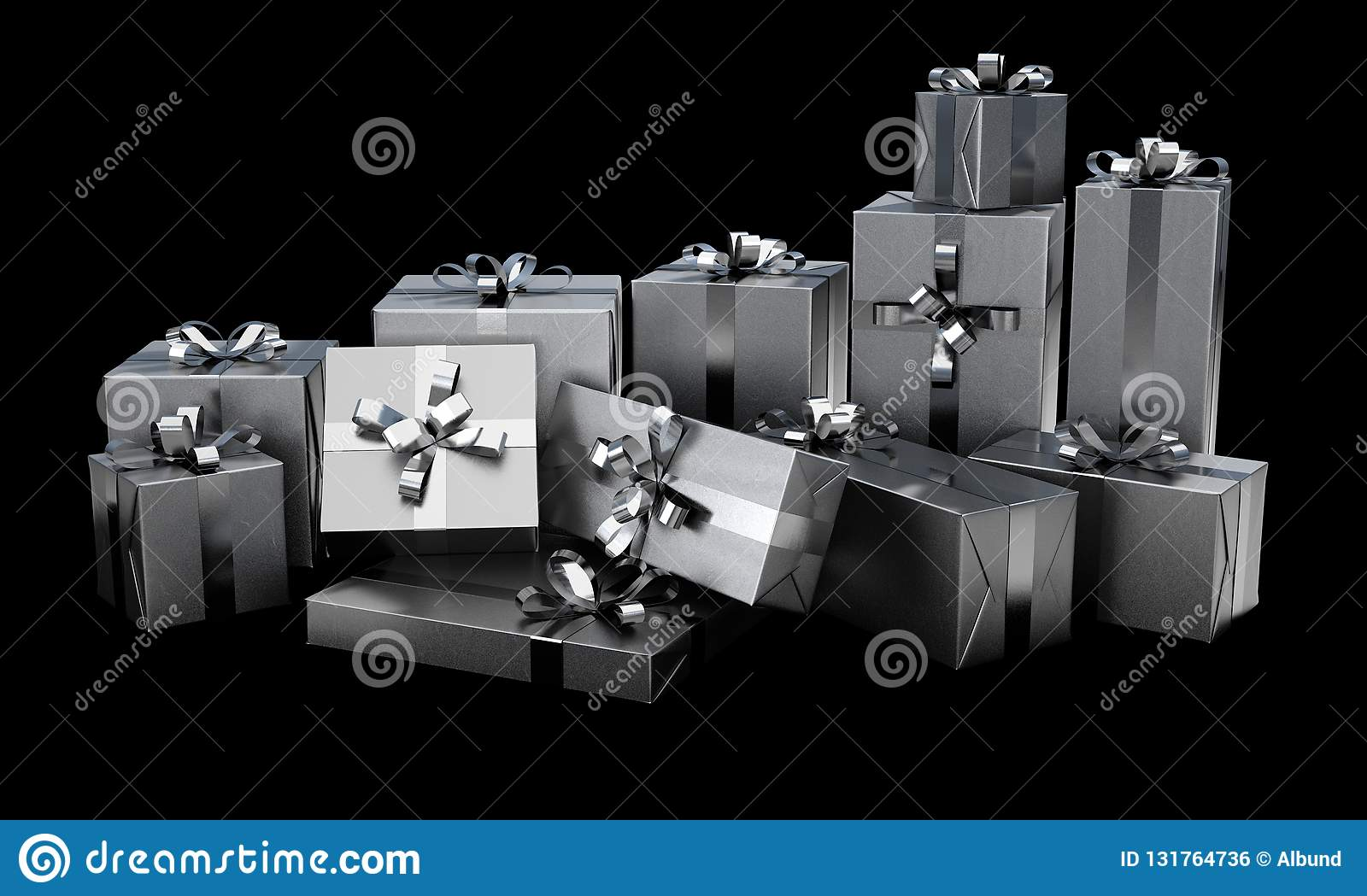 Christmas Gift Wrapped Boxes
