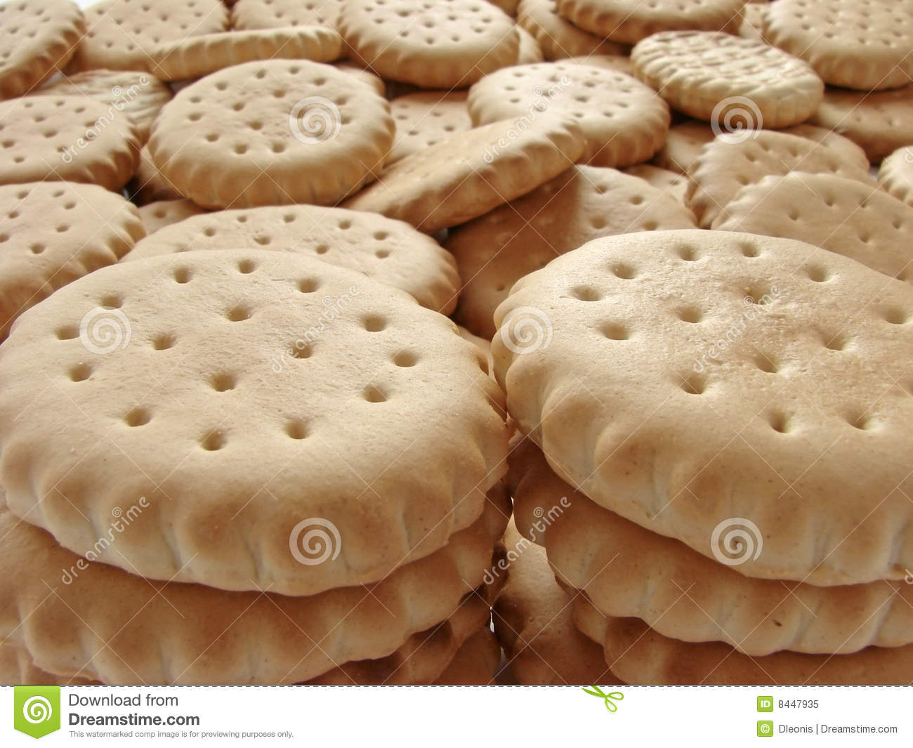 Scattered crackers
