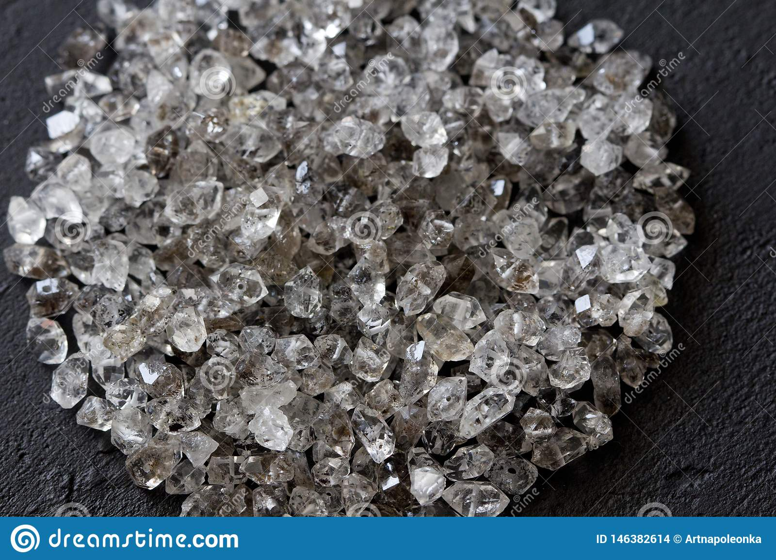 Scattered Diamonds On A Black Background Raw Diamonds And Mining A Scattering Of Natural Diamond Stones Graphite Quartz Stock Photo Image Of Glint Concept 146382614