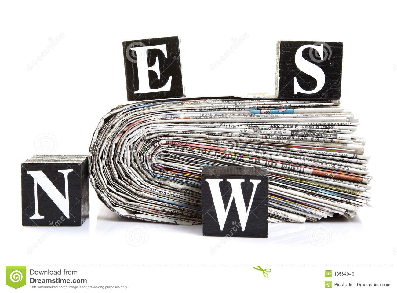 scattered news stock photo. image of recycle, business - 18564940