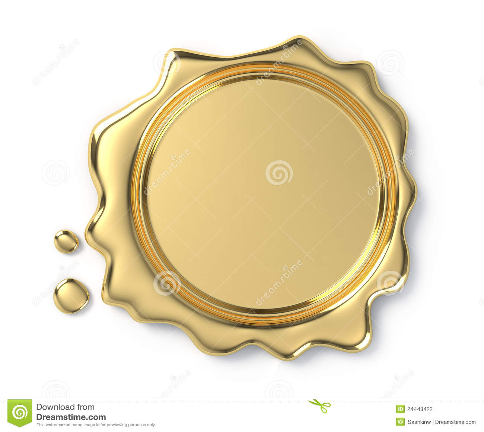 Sceau d or de cire