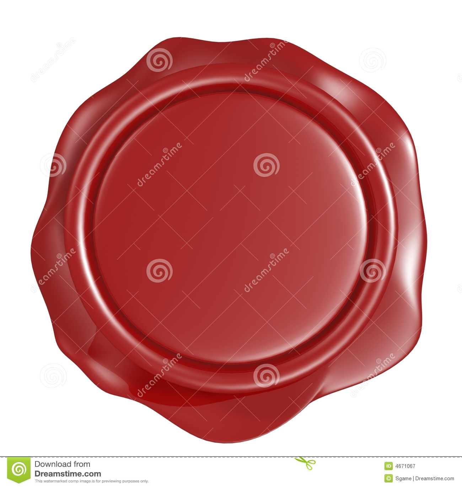 Sceau rouge de cire