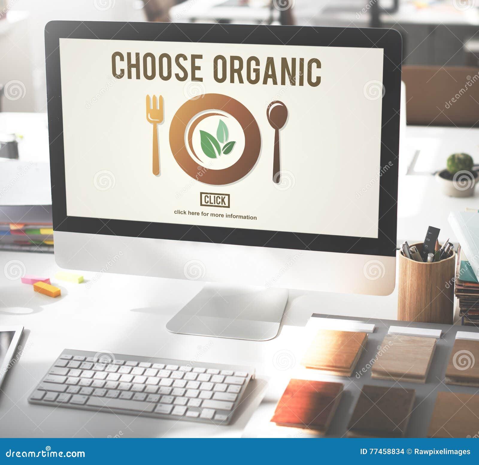 Scelga il concetto sano organico di stili di vita dell alimento del cibo