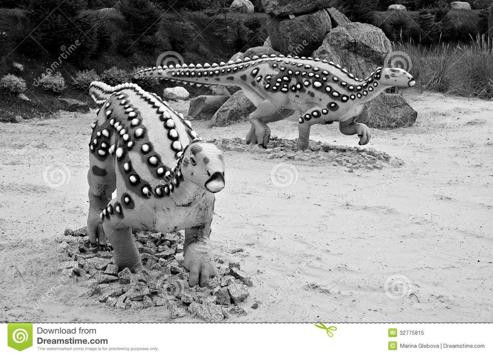 Scelidosaurus (lagarto del miembro). Modelo del dinosaurio.