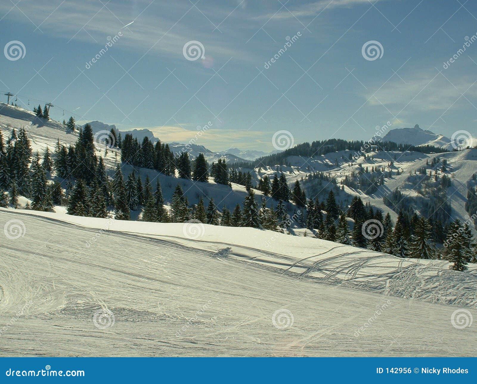 Scena śnieg