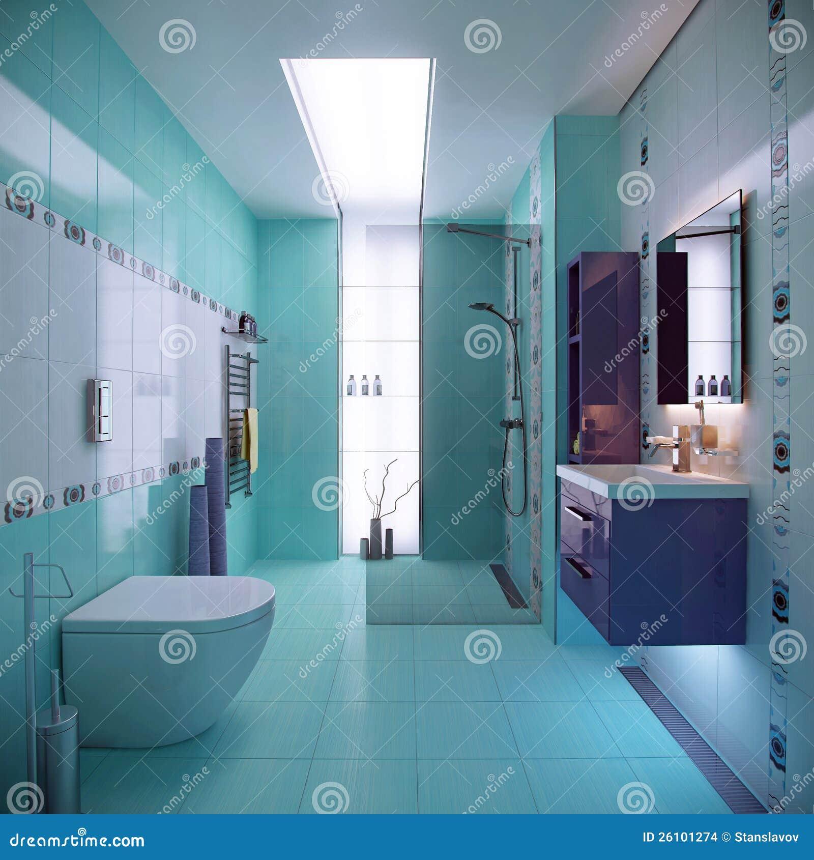 Scena blu della stanza da bagno illustrazione di stock - Arma letale scena bagno ...