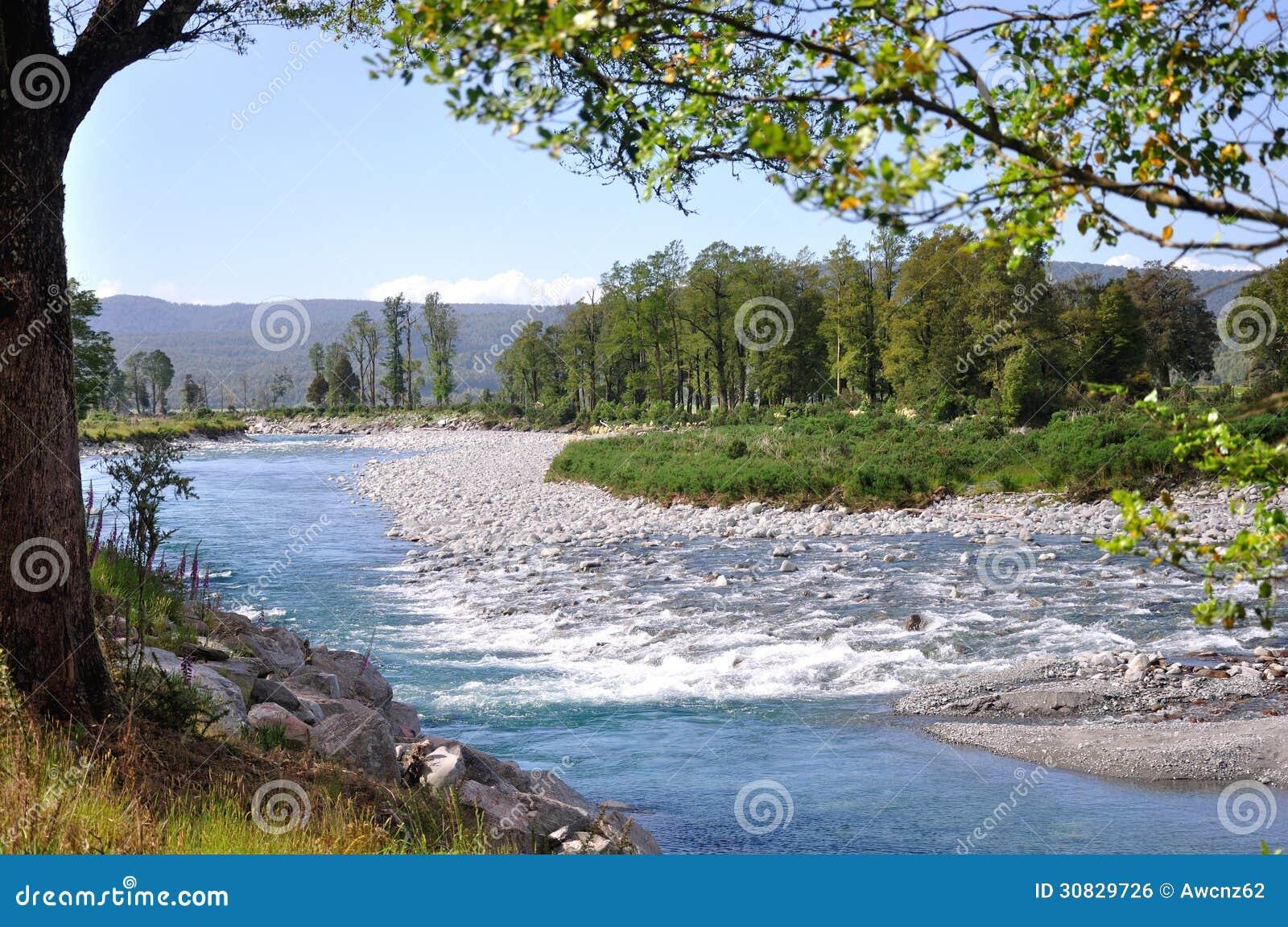 Scena del fiume di Haupiri