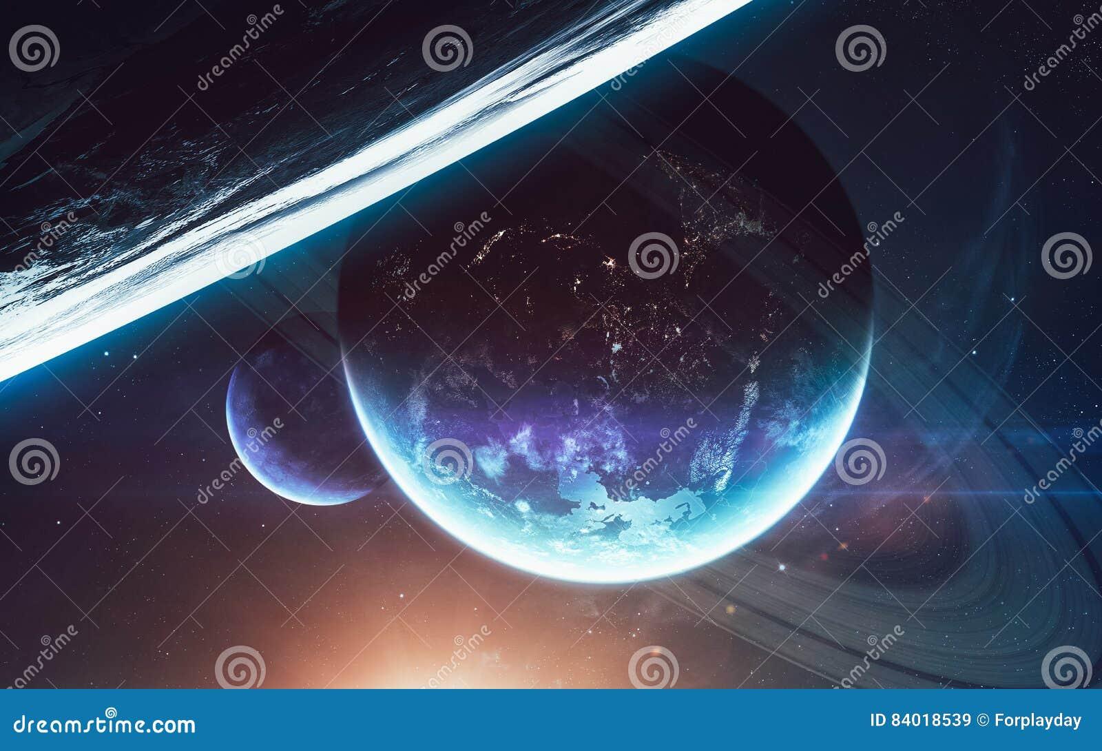 Scena dell 39 universo con i pianeti le stelle e le galassie for Immagini universo gratis