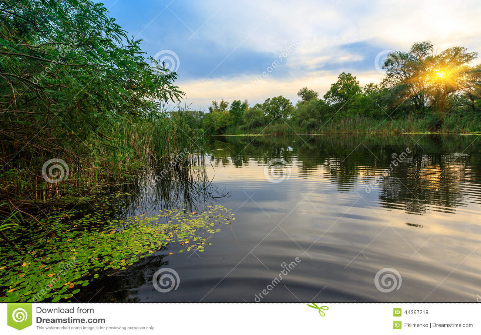 Scena di Enening sul fiume