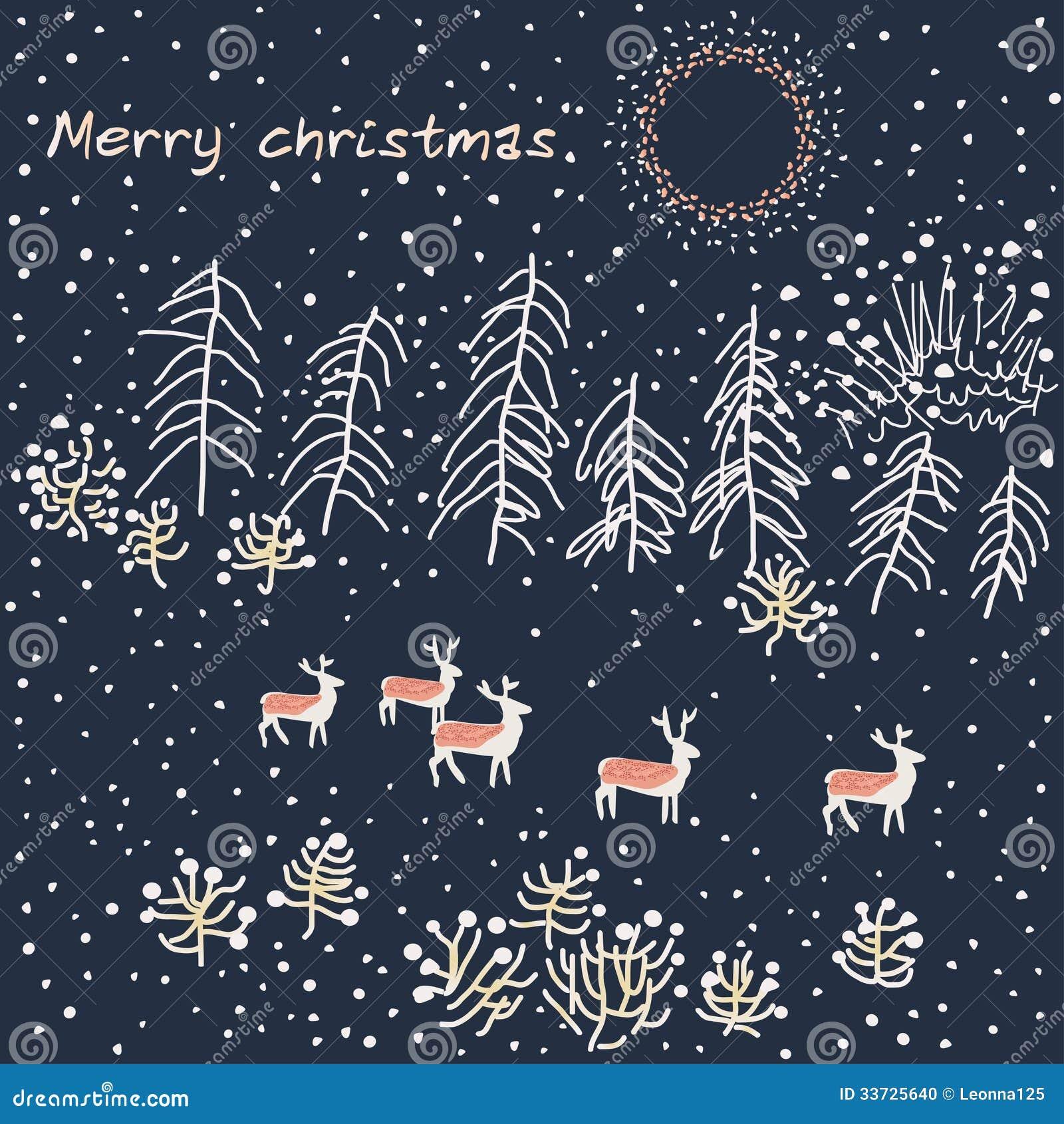 Scena di inverno - illustrazione
