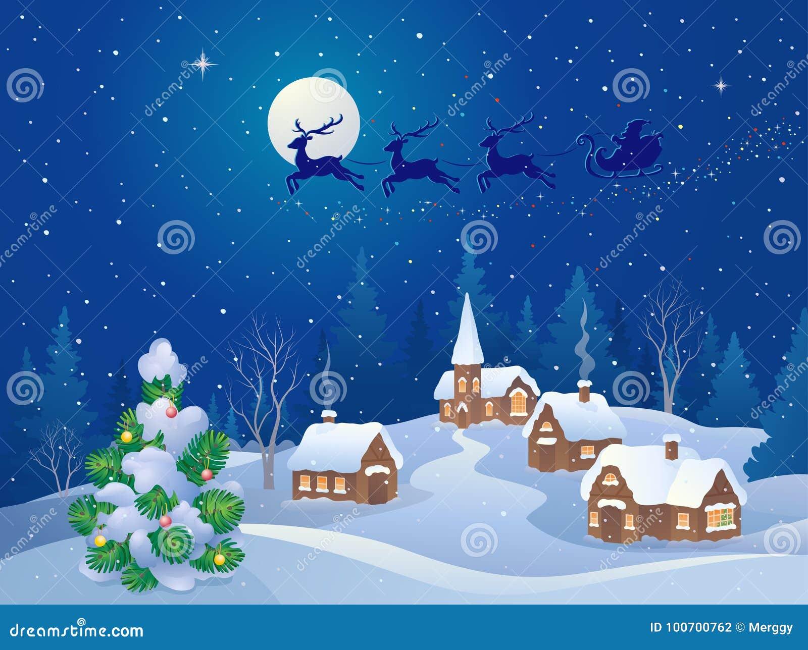 Scena di notte di Natale