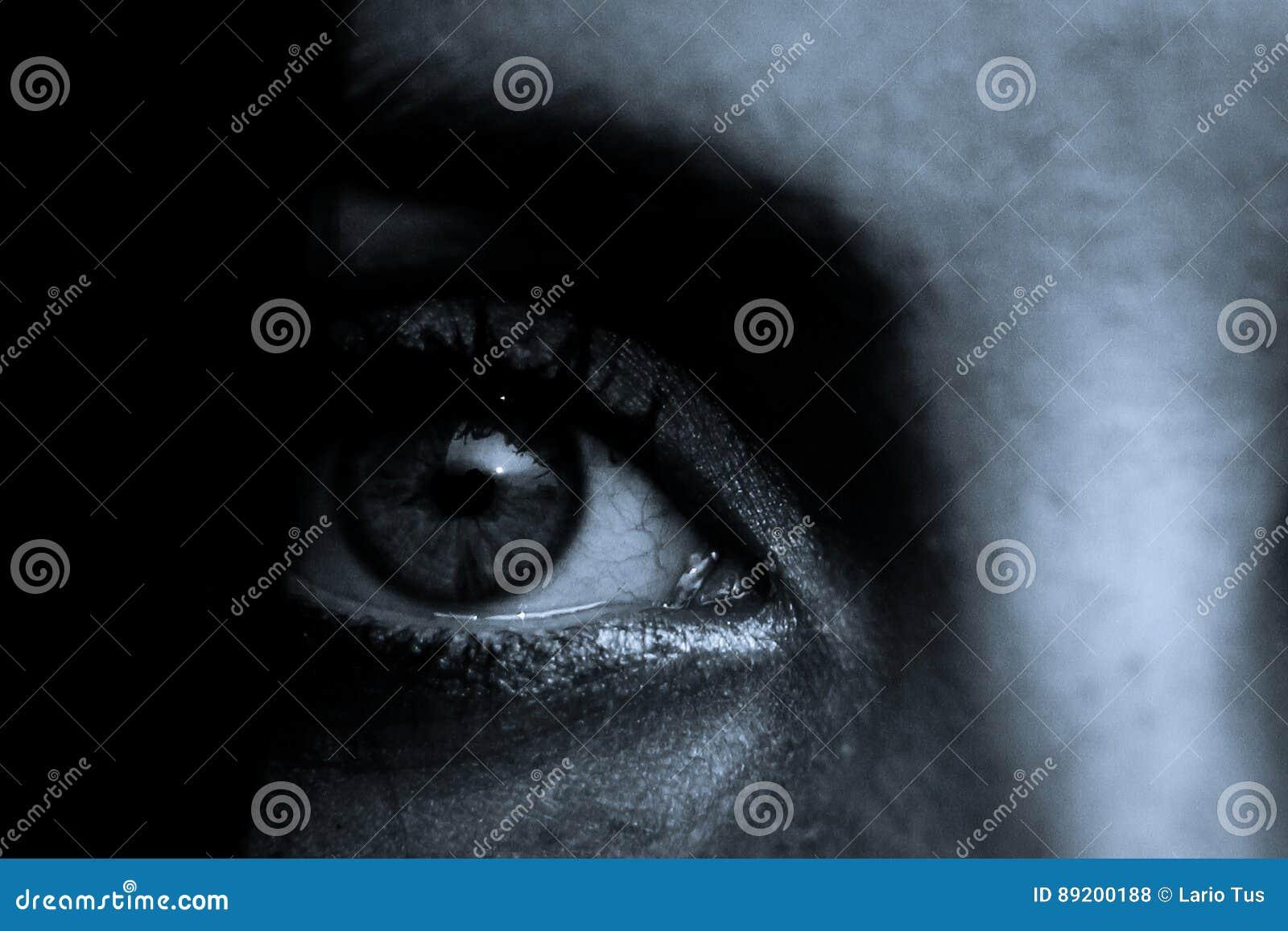 Scena di orrore: Pupilla femminile dell occhio