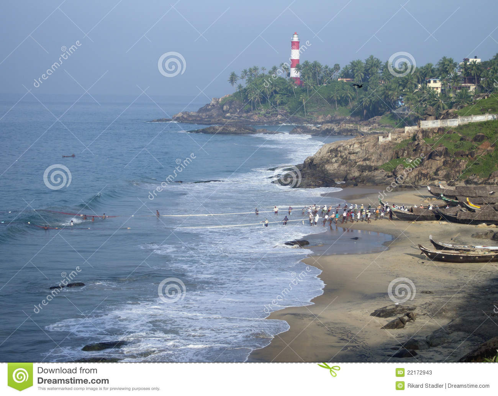 Scena di pesca del Kerala