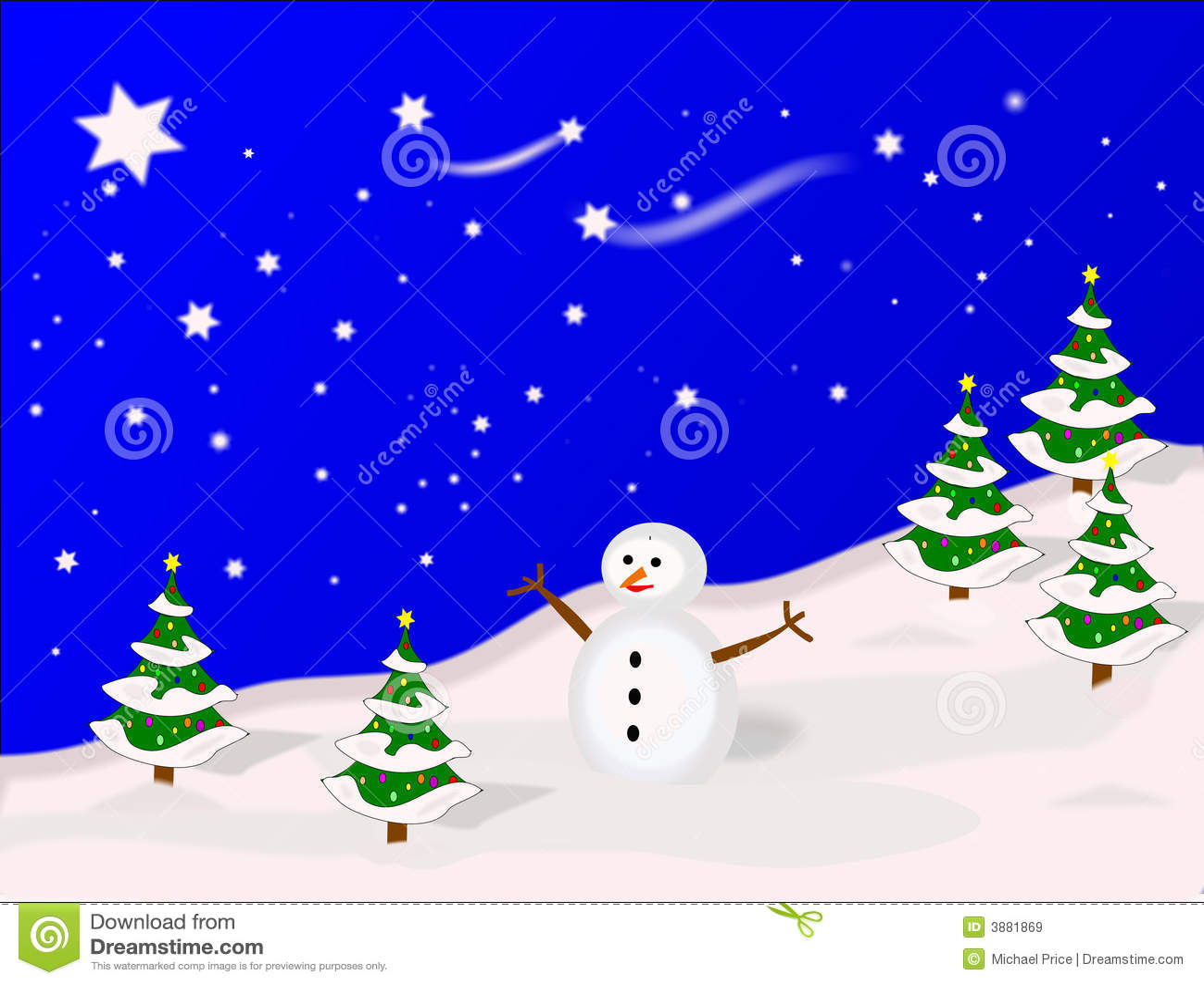 Scena illustrata di inverno