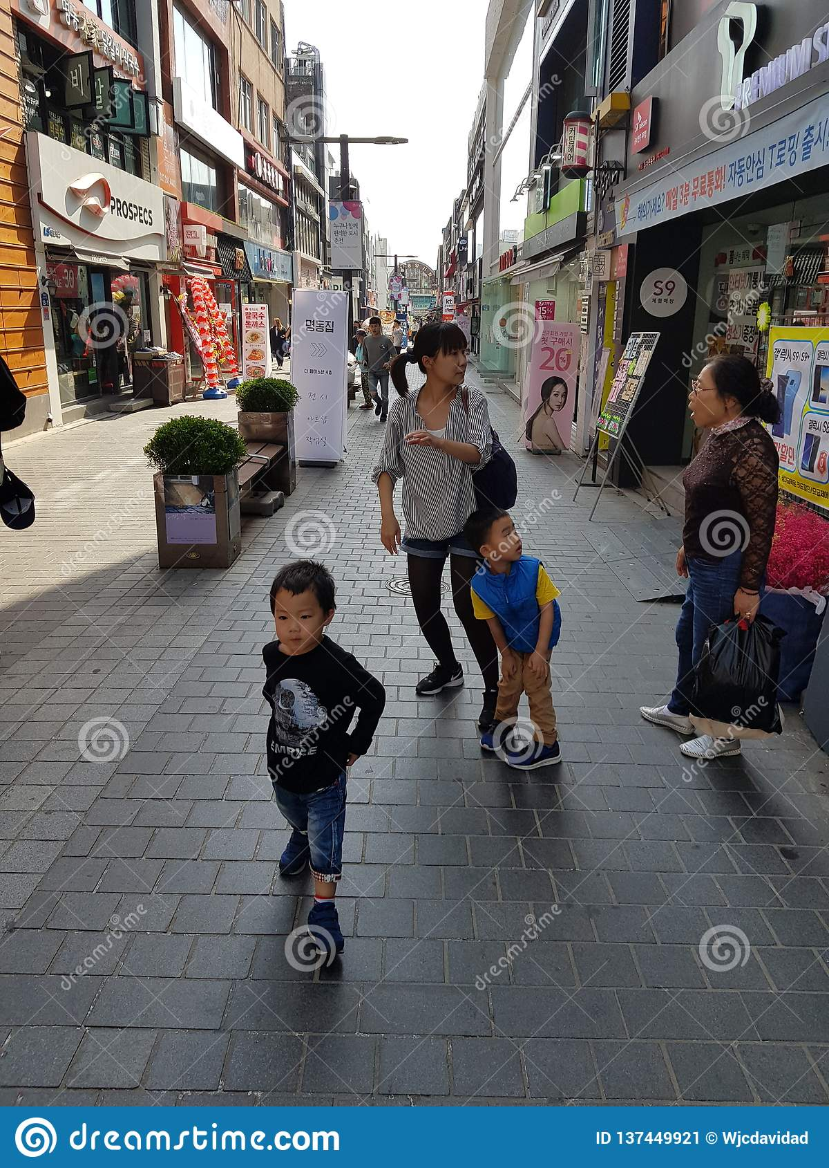 Scena na ulicie korea południowa