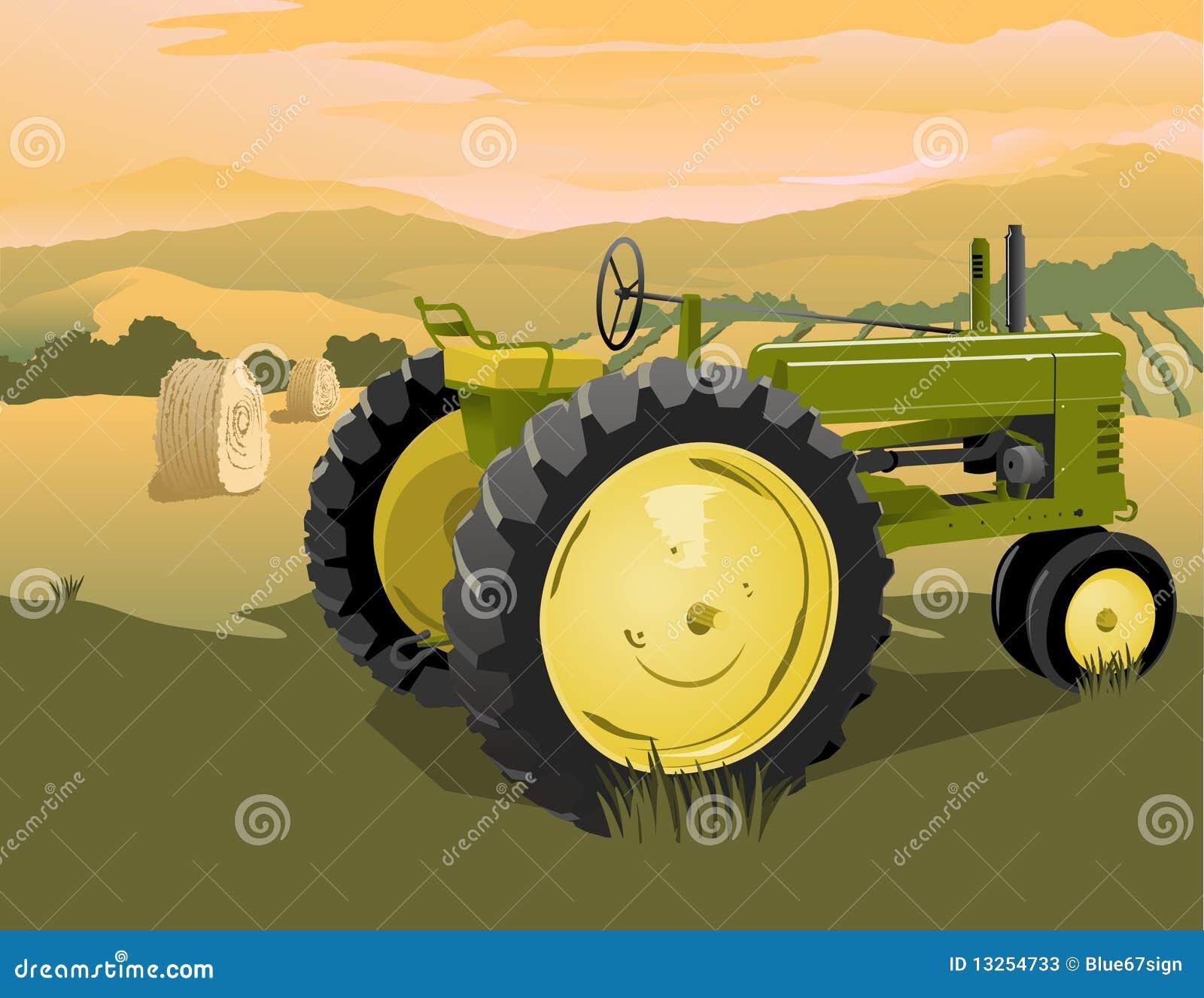Scena rolny ciągnik