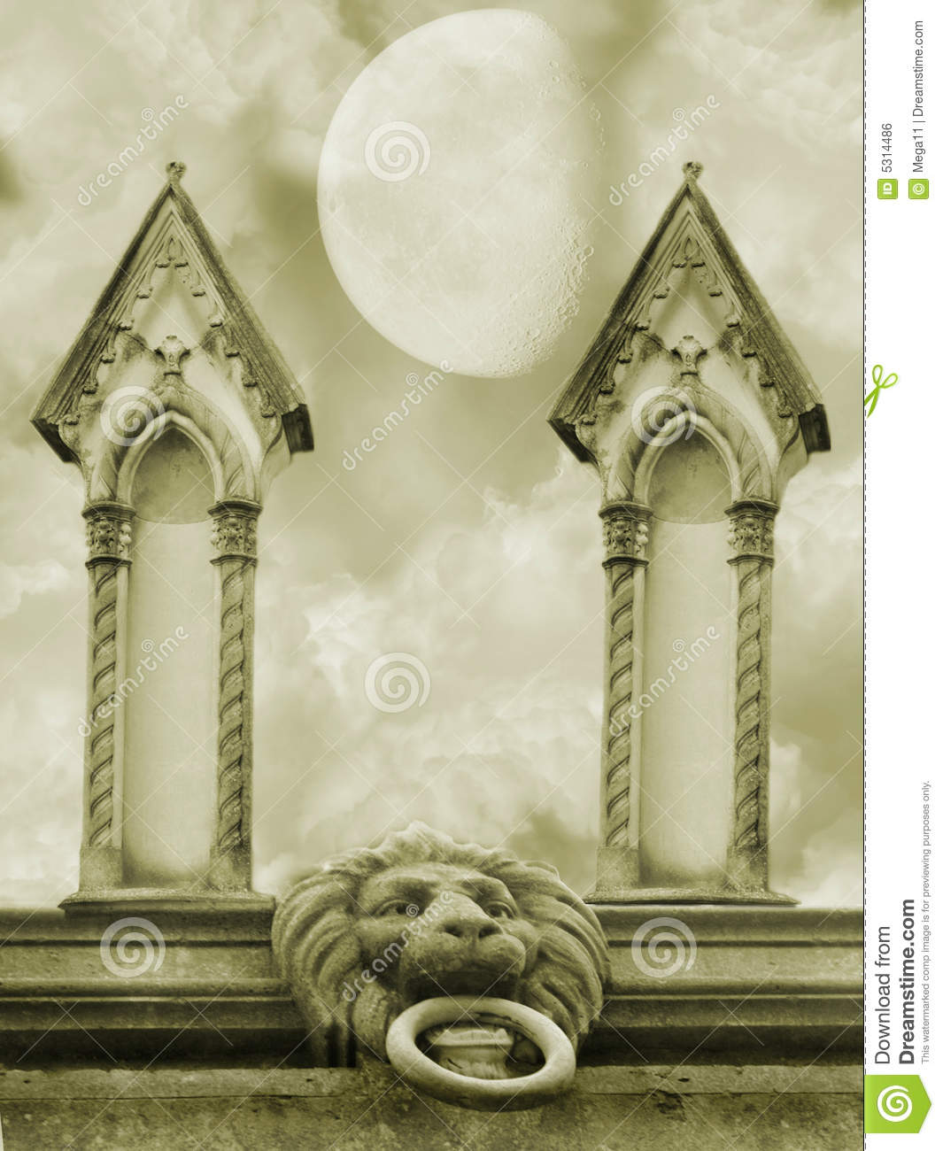 Download Scena scura illustrazione di stock. Illustrazione di glory - 5314486