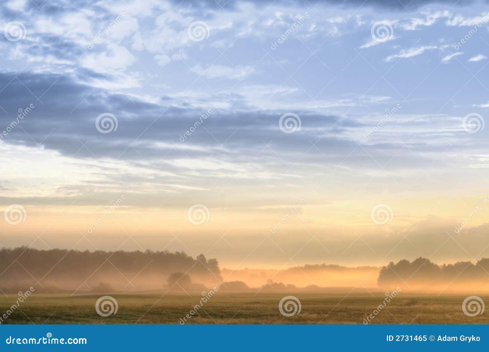 Scena wschód słońca