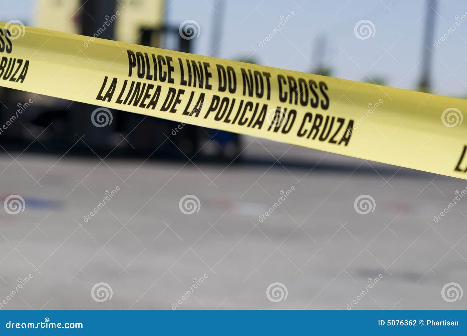 Scence van de misdaad bij benzinestation