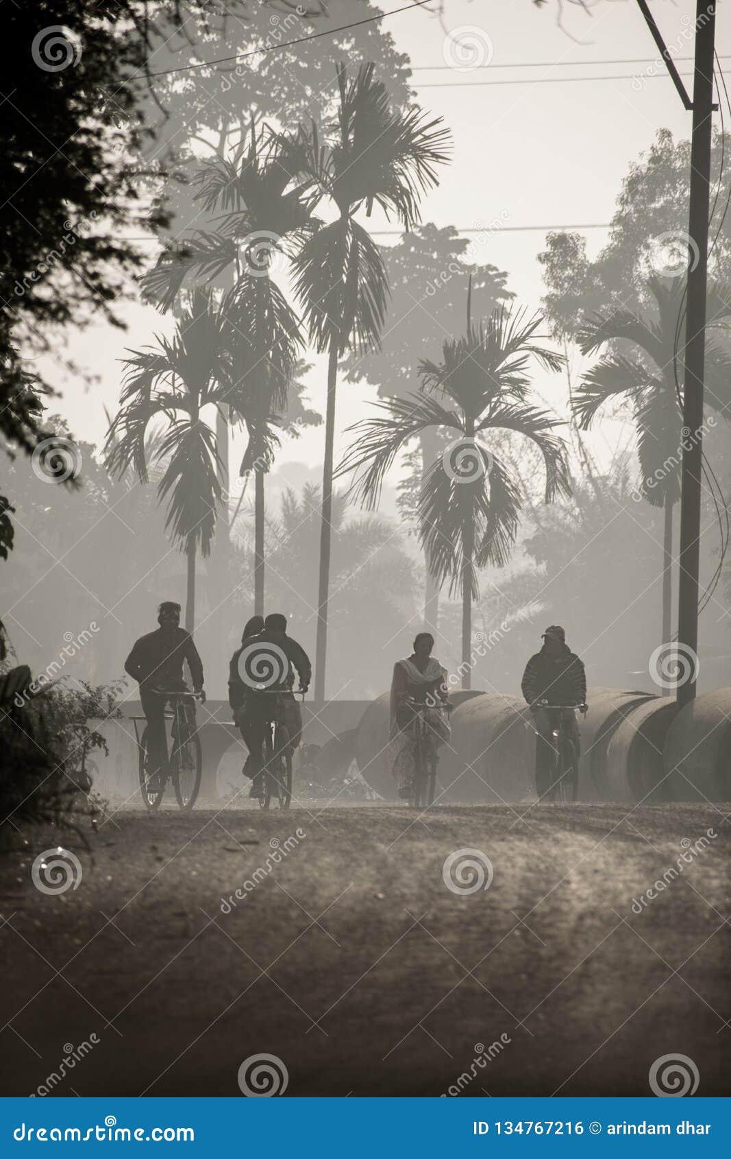 Scene of bengal village editorial photo  Image of village