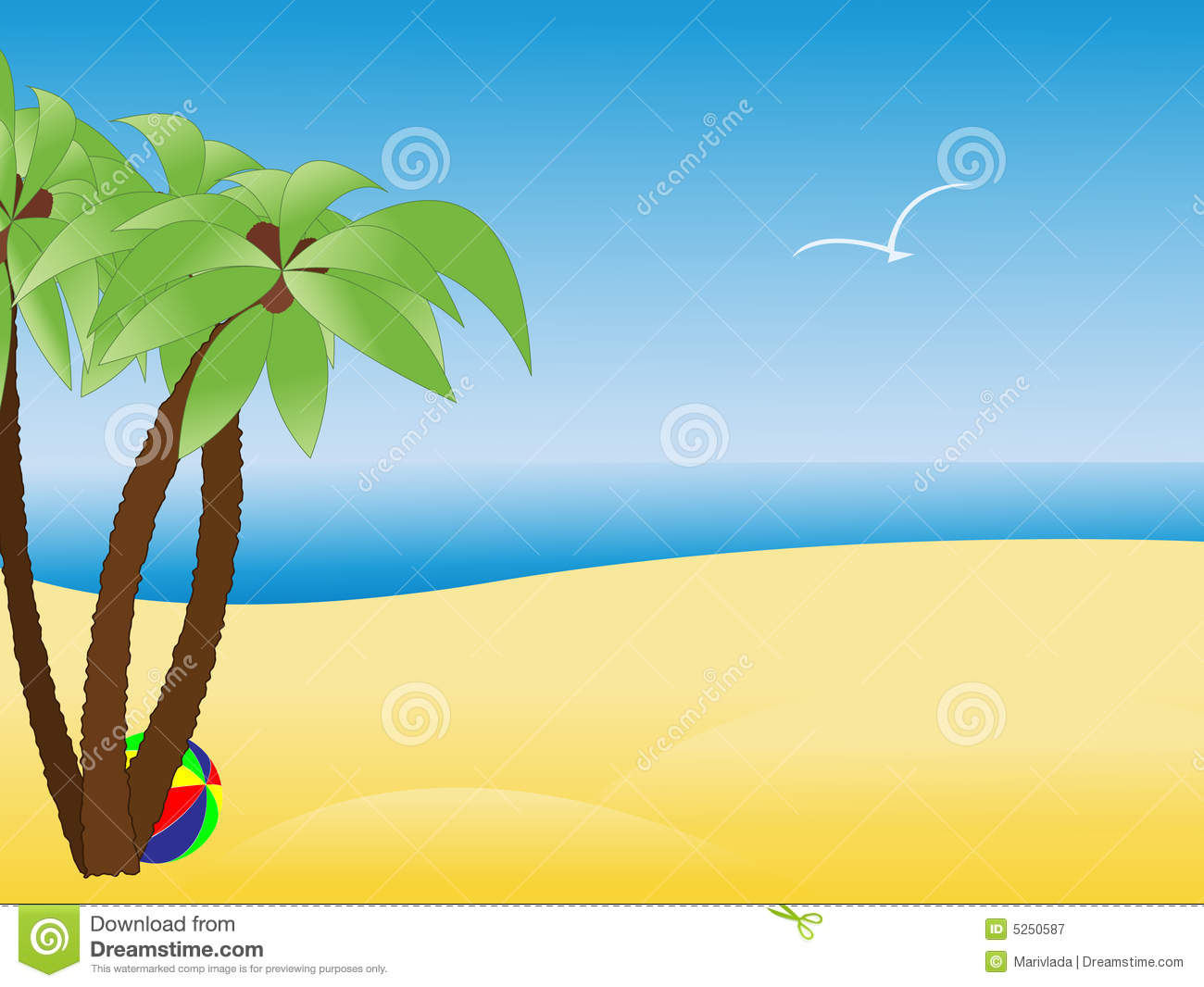 Clip Art Beach Scene Clipart beach scene stock illustrations 6712 with empty tropical palm trees royalty free photography