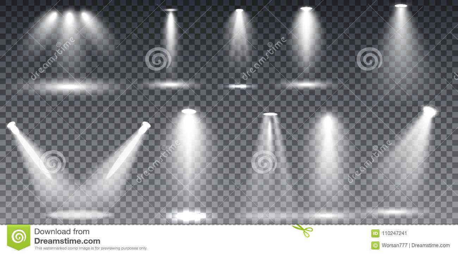 Scene illumination collection, transparent effects.