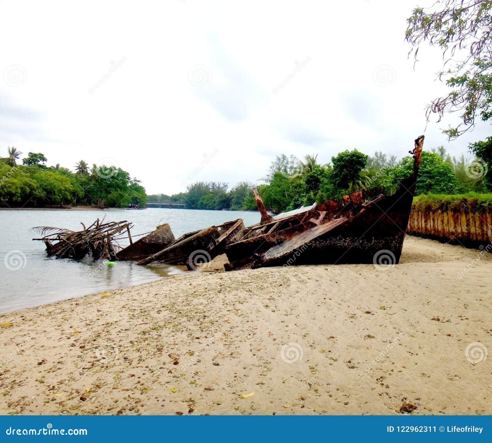 Vanuatu Beaches: Scene Of Luganville, Espiritu Santo, Vanuatu Stock Image