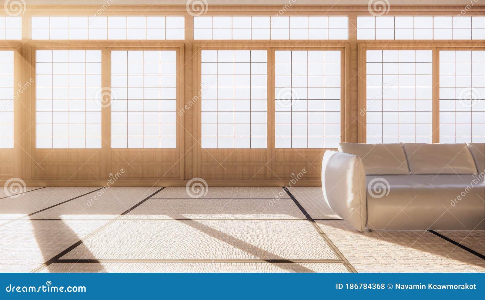 Scene Multi Function Room Ideas Japanese Room Interior Design 3d Rendering Stock Illustration Illustration Of Style Scene 186784368
