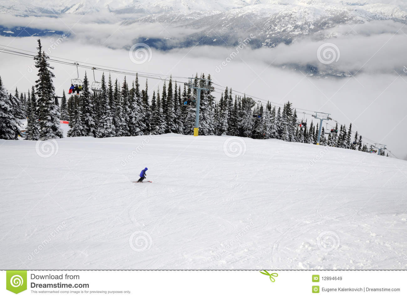Scene at Whistler-Blackcomb ski resort