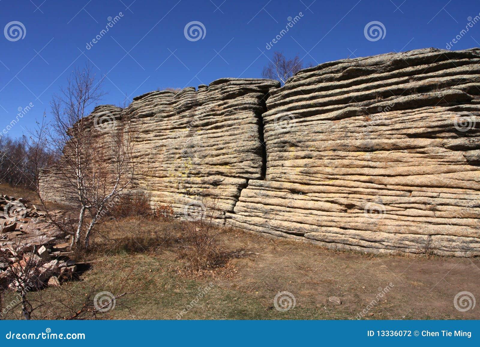 Sceneria lasowy kamień