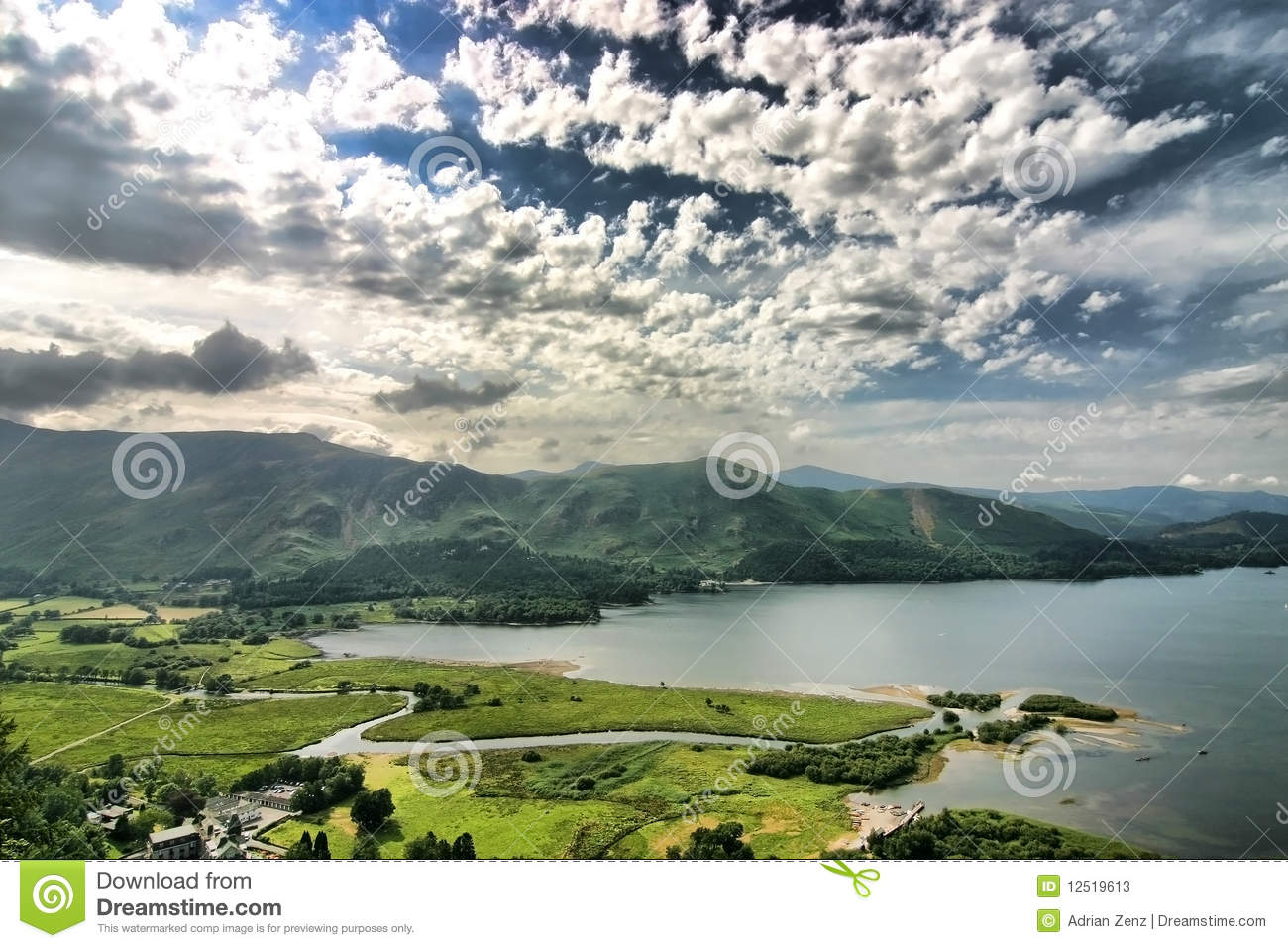 Scenery In The Lake District England Stock Photos Image