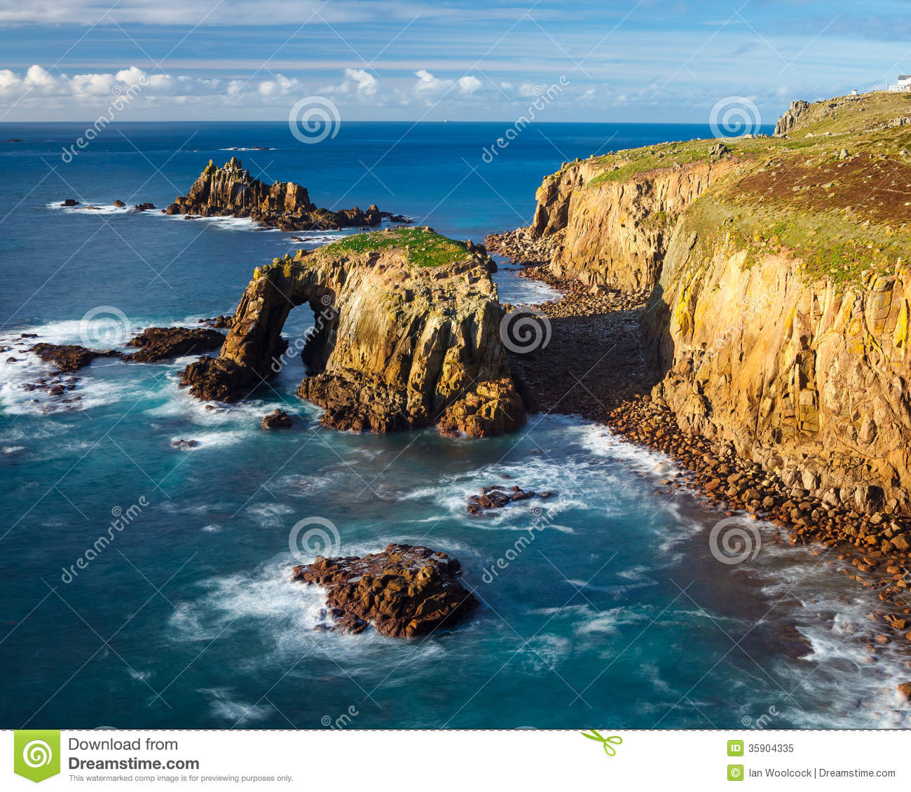 Scenery At Land End Cornwall England Royalty Free Stock Photo - Image ...
