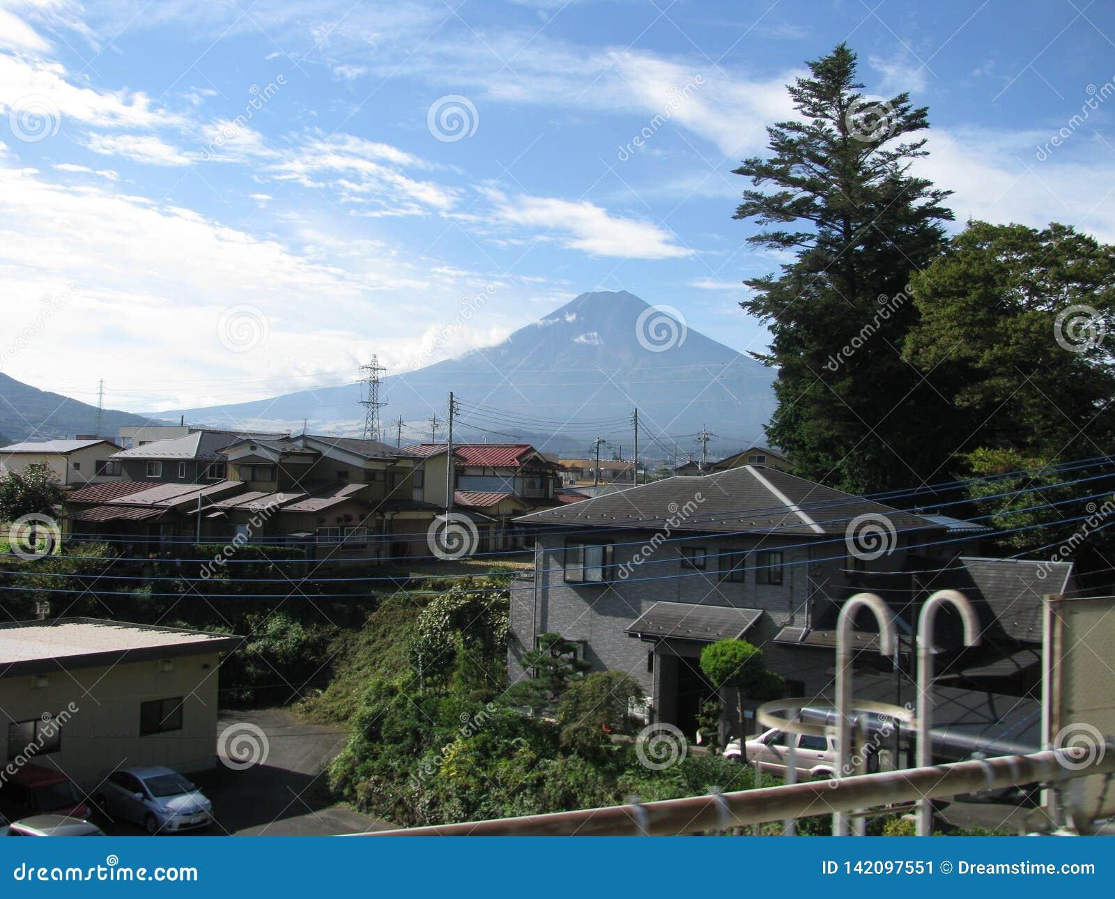 Scenery of magnificent Mt. Fuji